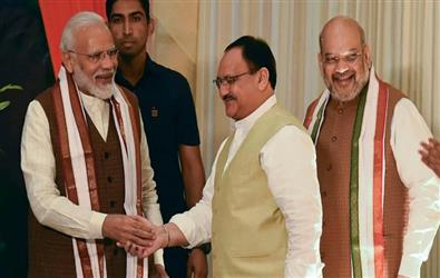 BJP Working Chief, JP Nadda likely to take over from Amit Shah as Party President, files nomination