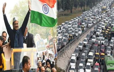 Republic Day: Rehearsals, Arvind Kejriwal roadshow, VIP movement crumble traffic of Delhi