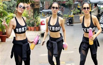 Malaika Arora looks stunning in sports bra and tights at yoga class. See pics