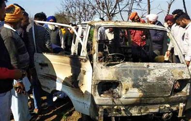 Punjab: 4 students burnt alive after school van catches fire in Sangrur
