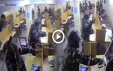 New CCTV Footage creates ruckus, shows brutality of Delhi Police in library of Jamia Millia Islamia
