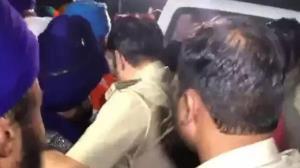 Nihang Baba Narain Singh surrenders before police