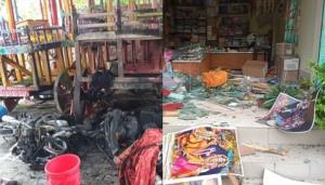 bangladesh durga puja pandal attack